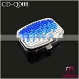 Promotion Square Metal Pill Box with Rhinestone CD-Q008