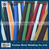 Custom brand logo polyester cotton webbing belt without buckle