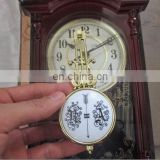 Rotating movement antique wooden pendulum wall clock