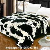 100%acrylic blanket  / blanket /flannel fleece print blanket with sherpa / acrylic blanket