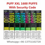 Newest Disposable Vape 1600 puffs Puff XXL Disposable with Verification Codes