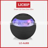 Smart round ball mini portable speaker Multi-functional wireless led LC- Aj69 bluetooth speaker