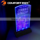 high quality illuminated clear plastic led menu covers