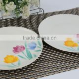 the coup shape dinner plate with decal porcelain dinner set luxury with white embossed dinner plates