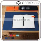 high quality genuine leather rectangle shape desk pad mouse pad place mat
