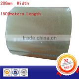 288mm x 1500meter transparent semi jumbo roll opp adhesive packing tape