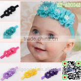 Wholesale hot selling 3 Chiffon flowers girl dress elastic headbands hair accessories MY-AB0043