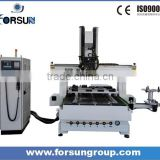 Hot sale 4 axis cnc router engraver machine for curved wood chair carving