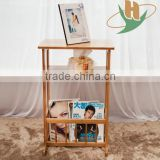 Simple design good quality made in china bamboo book rack
