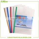 A4 Colorful pumping rod transparent file folder