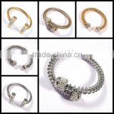 new gold chain design for men bangles stainless steel bracelet jewelry