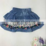 2016 new arrival kids mini skirt denim cupcake dress baby girl party wear skirt wholesale from china manufacturer