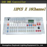 Factory high quality 240 dmx controller / Disco DMX console 240 , Can control 12pcs X 16dmx channel DMX stage lighting