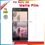 6 Years Supplier hd Clear Anti Oil Smart Phone LCD clear matte screen protector for Sony Xperia Z2