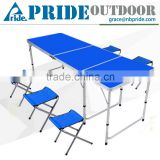 5 Seat Colorful Aluminum Travel Portable Outdoor Camping Folding Tables And Chairs                                                                         Quality Choice