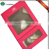 Custom hair weave packaging box with clear PVC window