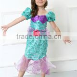 Halloween children stage dance party blue skirt kids dress mermaid cosplay costumes