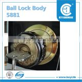 2015 hot sale 5881 door lock / ball lock body / furniture lock factory price with high quality
