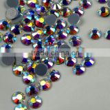 Wholesale 2mm-6mm crystal AB hotfix stones bead, flatback rhinestone crystal beads for latin dress competition