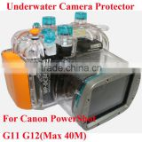 40M/130ft Diving Camera Case Underwater Waterproof Camera Housing Casing Hard Bag Diving Equipment for Canon