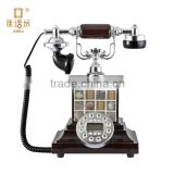 wood antique art telephone antioxidant sound clear handmade seashell for bedroom decoration