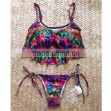 Bikinis Set Vintage Swimsuit Push up Swimwear Crochet Bathing Suits New Sexy Bandage bikin