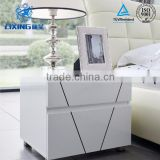 Bedroom Furniture Modern White Paint MDF Nightstand