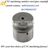 customize precision CNC machining 316 stainless steel glass standoff