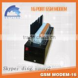 Best quality!16 port gsm modem with 16 sim card slots for bulk sms sending open source software