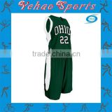OEM Service plain green mesh basketball jersey uniform