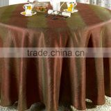 2016 hot sale luxioury Europe-style round polyester jacquard table cloth for wedding banquet                                                                         Quality Choice