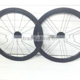 OEM Ultra light chinese carbon clincher wheelset 50mm 700c road bike clincher wheels with powerway R36 hub in T800 carbon fiber