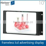flintstone 10 inch auto loop play long life span tft screen industry design open frame marketing displays