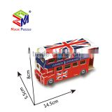 Double deck bus vehicle model 3D Paper Cardboard Jigsaw Puzzle
