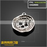 Wholesale jewelry accessories YP2949 Komatsu plating ancient silver four round-shaped alloy pendant button