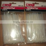 Direct selling 94v-2 self-locking 3.6*150 PA66 Nylon Cable Ties /plastic twist ties