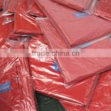 Plastic sheeting PP/PE tarpaulin leno woven fabric colored finished surface high tensible strong reinforce edge awning anti uv