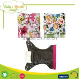 PCB-02 Cartoon Wave Printed Charcoal Bamboo Baby Pocket Nappy Cloth Diapers