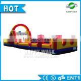 Wholesale 0.55mm PVC baby obstacle courses, adult inflatable obstacle course,inflatable water obstacle course for sale