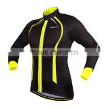 High elastic Thermal Fleece Cycling Jacket breathable men's full sleeve cycling jersey