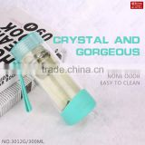 Water Bottles Drinkware Type and FDA,SGS Certification double walled thick glass water bottle with filter