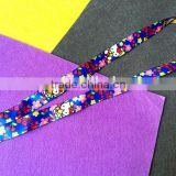 Factory custom colorful fashion polyester dye sublimation printed lanyard