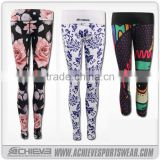Custom Multi Color Full sublimated Printed Tight Fit Leggings/High Quality Sublimation Printed Leggings