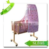 Christmas baby gifts wooden baby furniture swing cribs/beds /baby bedroom play bed