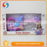 Battery operated mini plastic toys musical instruments/electric guitars with light