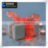 Ribbon light series red color copper wire string with 2AA battery case for 2015 box decoration