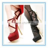 Gorgeous Hot Sale High Heel Platform Red/Black Wedding Shoes(WS-5001)                                                                         Quality Choice