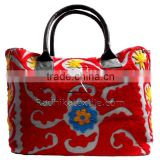 RTHHB-28 Special Gift For Ladies Embroidered Uzbek Suzani Large Canvas Handbags / bags India Wholesaler Manufacturers
