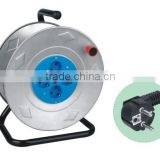 Cable Reel European Cable reel steel reel 16A 250V with VDE cable H05VV-F 3G1.5mm2 25/50m Extension cord reel