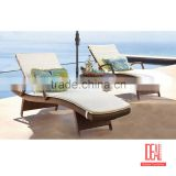 modern Outdoor Rattan Wicker comely patio furniture modern design wave shape sun lounger